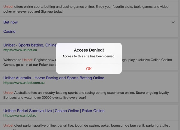 How to block gambling sites on iphone 5